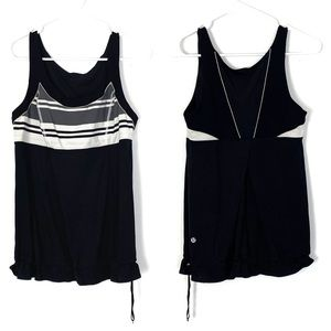 Lululemon Run Bungee Tank Top Black Stripped